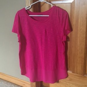 Express pink dressy tee- size M